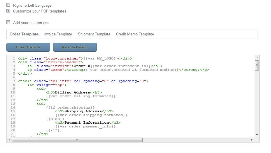 Easy Pdf Invoice Magento Extension