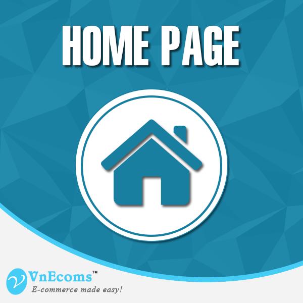Vendor Home Page