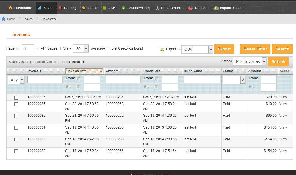 Vendor Manages Invoices