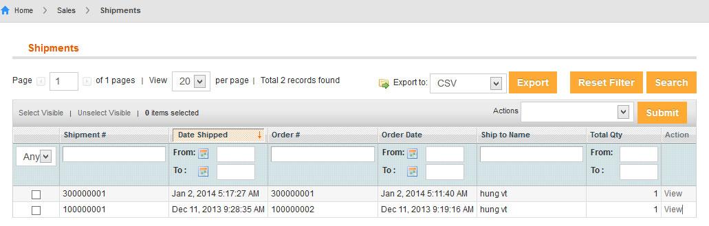 Vendor Manages Shipments