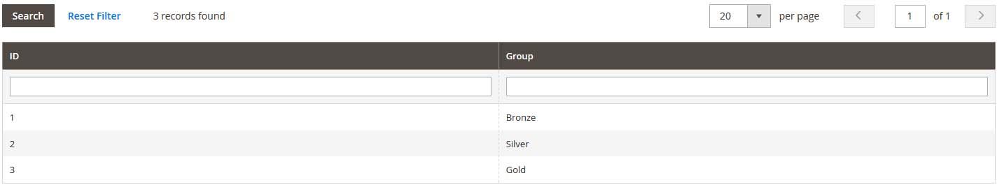 Manage vendor groups