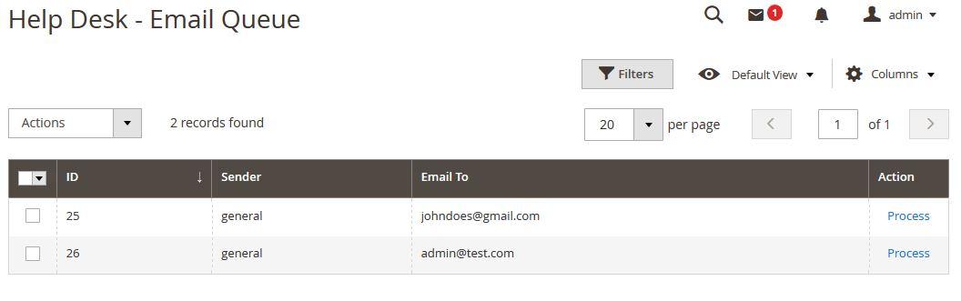 Manage Email Queue